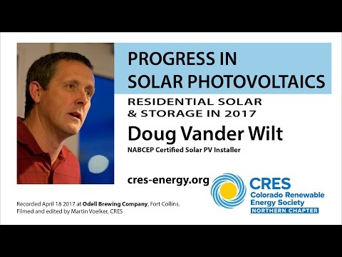 Progress in Solar Photovoltaics 2017 - Doug Vander Wilt, NCRES