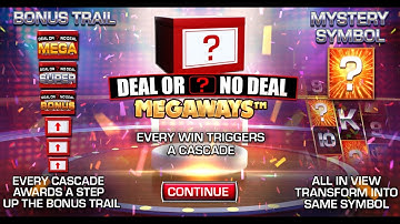 DEAL OR NO DEAL MEGAWAYS (BLUEPRINT GAMING) ONLINE SLOT
