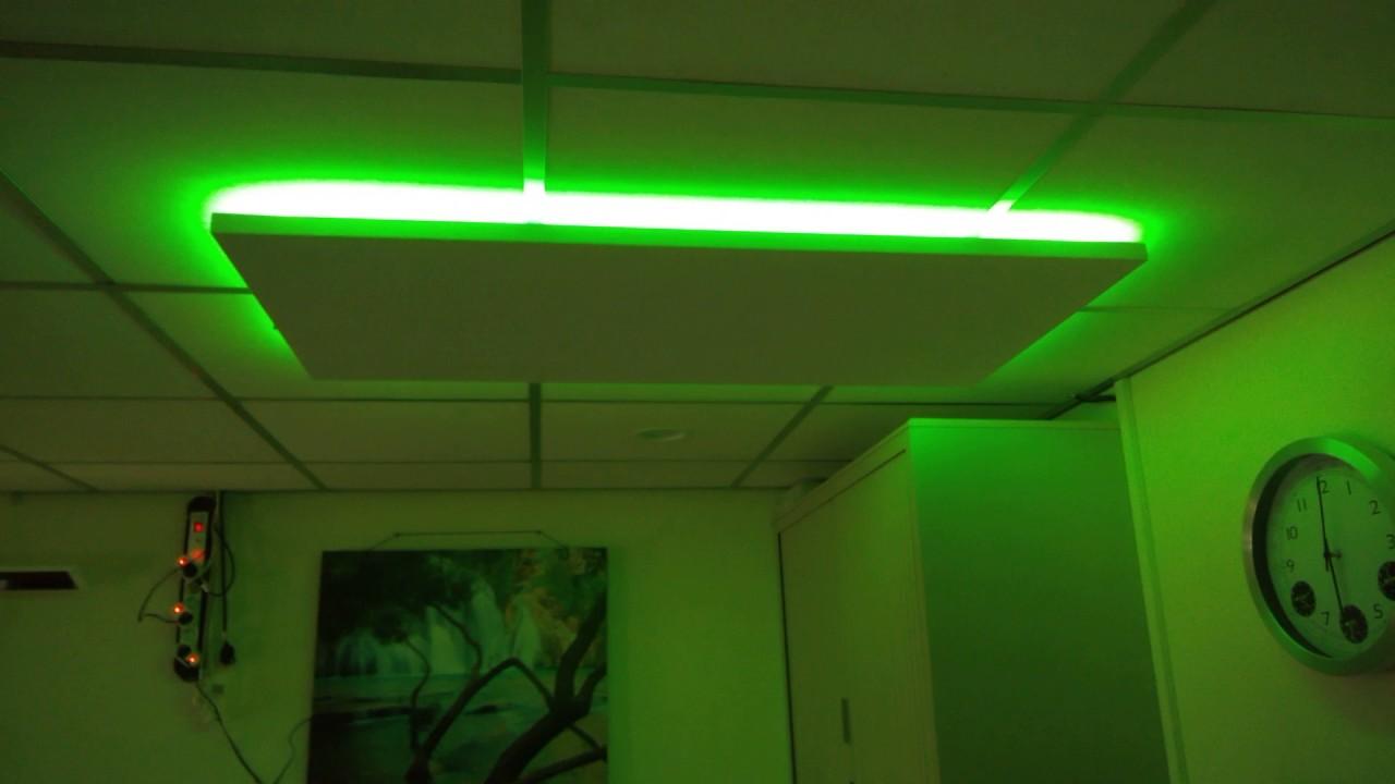 infraroodpaneel met led verlichting youtube. Black Bedroom Furniture Sets. Home Design Ideas