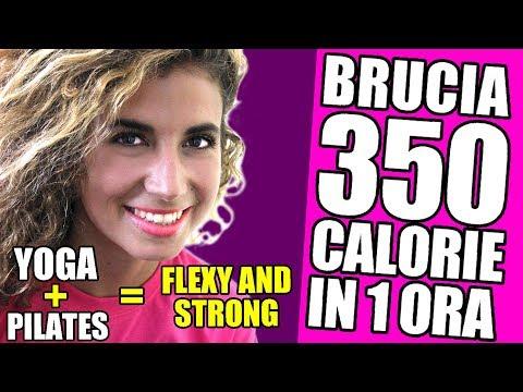 Yoga e Pilates per dimagrire e tonificare - Bruciare 350 calorie con gli esercizi Flexy and Strong