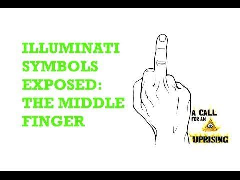 Illuminati Symbols Exposed The Middle Finger Acfau Youtube