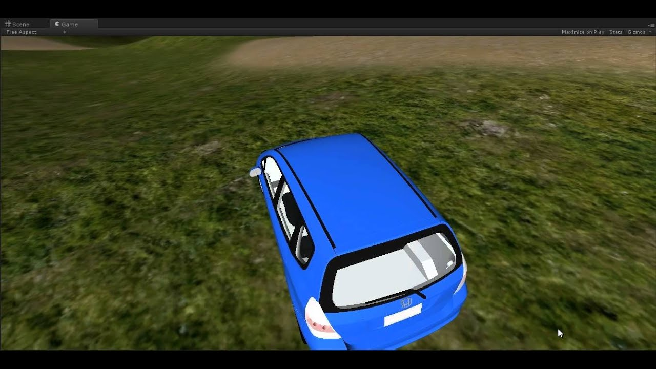 My First Car Game Unity