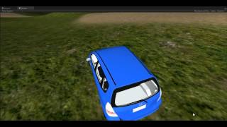 My first car drive test. Unity 3D project