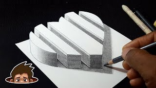 How to Draw 3D Segmented Heart for Kids | Dibujar un Corazón | 3 डी चित्र
