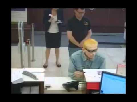 RAW VIDEO: Bank robbery suspect caught on tape