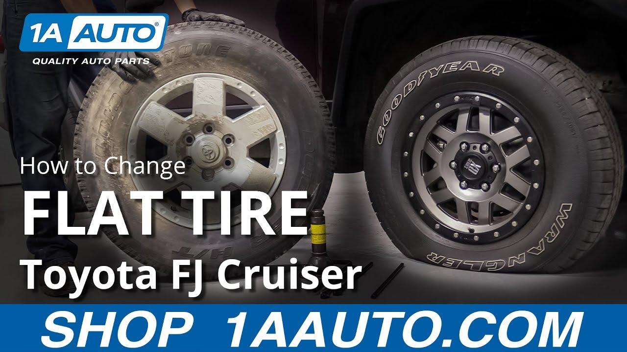 How to Change Flat Tire 07-14 Toyota FJ Cruiser