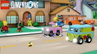Lego Dimensions - Homer VS Salsicha numa CORRIDA MALUCA - Caraca Games