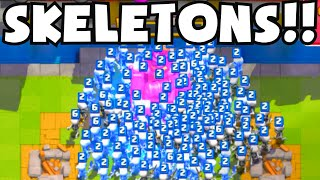 Clash Royale MOST SKELETONS EVER (WORLD RECORD?) ALL SKELETON TROLL DECK CHALLENGE/STRATEGY GAMEPLAY