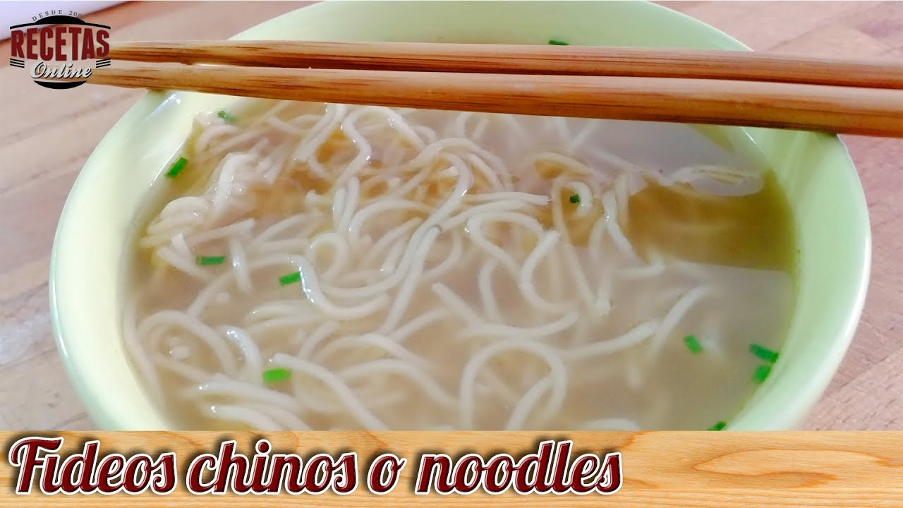 Fideos chinos o noodles de pollo recetas de cocina youtube - Cocimax recetas ...
