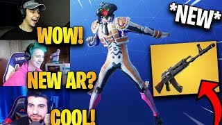 Streamers React to *NEW* Heavy AR + Criss Cross Emote!   Fortnite Highlights