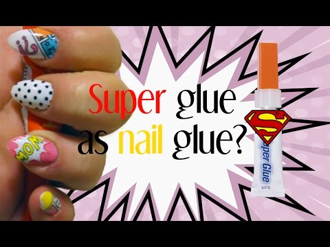 Can you use super glue to put fake nails on