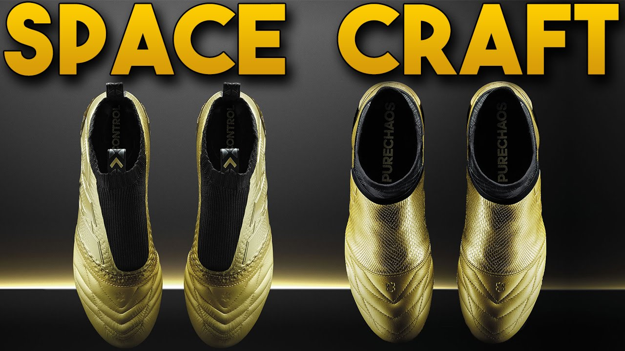 adidas Space Craft Pack K-Leather PureControl   PureChaos - ACE16   X16+  Soccer Cleats b1b52a3973022