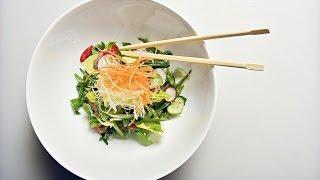 Азиатский салат из говядины с кунжутной заправкой. Лучшие рецепты от wowfood.club