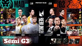 G2 Esports vs Mad Lions - Game 3 | Semi Final PlayOffs S10 LEC Spring 2020 | G2 vs MAD G3