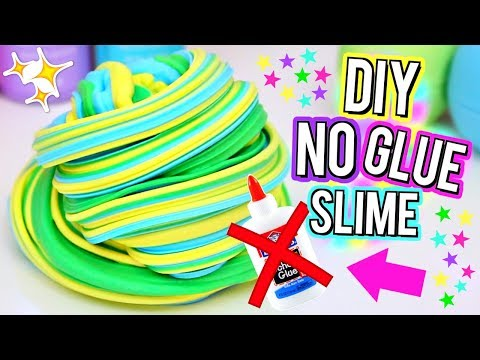 Thumbnail: DIY Fluffy Slime WITHOUT GLUE! How To Make The BEST SLIME with NO GLUE!