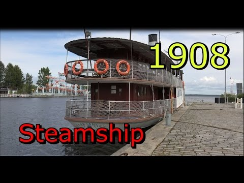 Steamship Tarjanne 1908 Tampere Finland