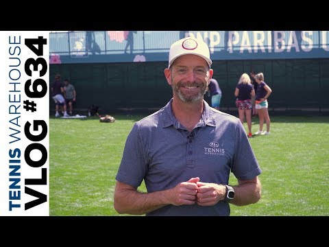 Behind the scenes at the BNP Paribas Open (tennis paradise!) -- VLOG #634