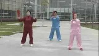 Beautiful Sunset Tai Chi Kung Fu Fan (56 Moves)