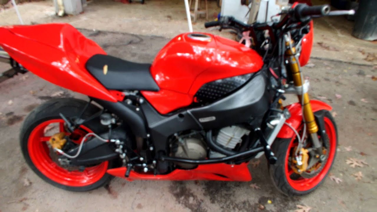 05 kawasaki zx6 636 red streetfighter 4sale in knoxville tn youtube. Black Bedroom Furniture Sets. Home Design Ideas