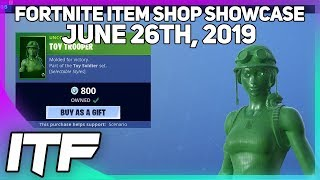 Fortnite Item Shop *NEW* TOY SOLDIER SKIN SET! [June 26th, 2019] (Fortnite Battle Royale)
