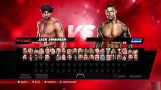 WWE 2K14 ( Main Menu, jukebox, roster, and match )
