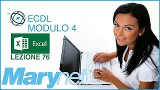 Corso ECDL - Modulo 4 Excel | 7.2.2 Come mostrare e nascondere la griglia, le intestazioni in stampa
