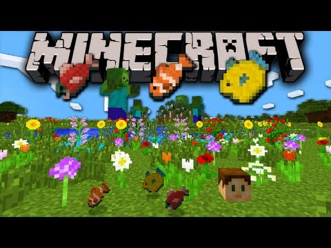 Minecraft 1.7 Snaps: New Plants, Fish, Summon Dragon & Giant, Sprint Fly, ...