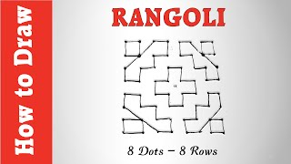 How to Draw Rangoli Using 8 Dots - 8 Rows
