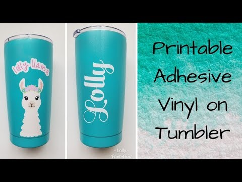 Printable Vinyl to make Llama Tumbler!