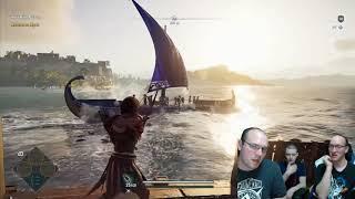 FIGHTING SHARKS! Reacting to Assassin's Creed Odyssey Shark Fight, Leap of Faith + Mercenary Fight!