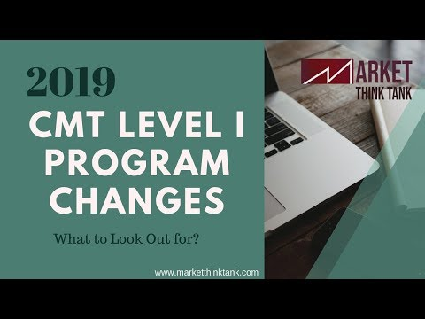 CMT- 2019 Level 1 Exam Changes | CMT Program Curriculum Updates