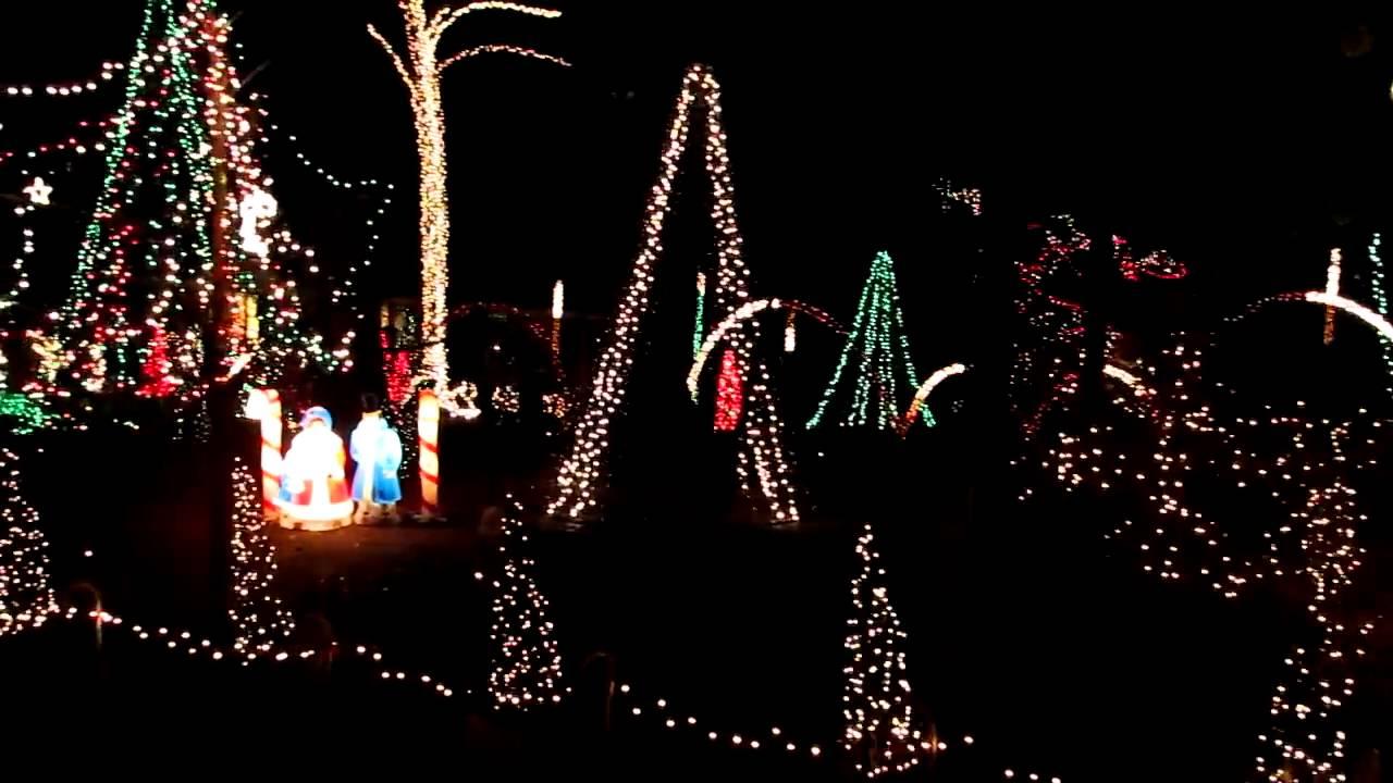 Lake Myra Christmas Lights- Wendell, N.C. - YouTube