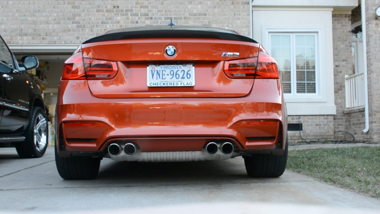 2016 bmw m3 vrsf catless downpipes stock exhaust youtube. Black Bedroom Furniture Sets. Home Design Ideas