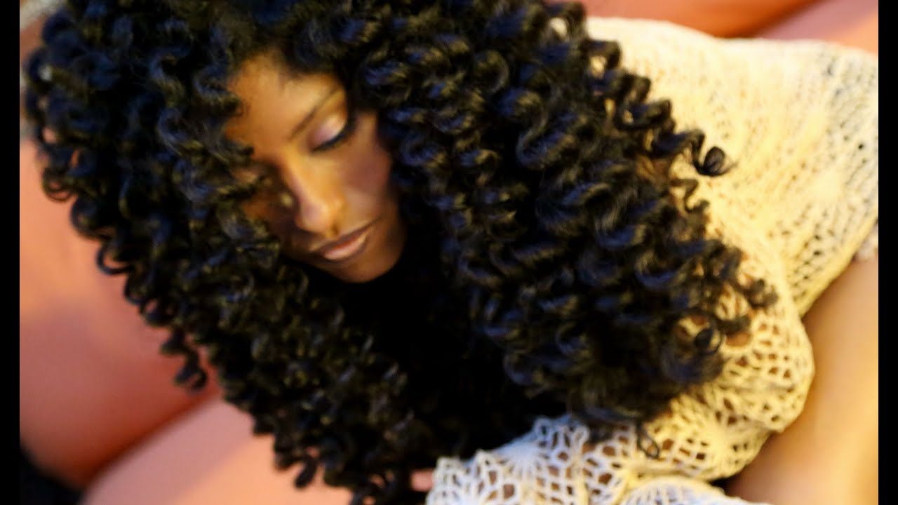 Natural Hair No Heat Curls & Waves Flexi Rod Set Tutorial