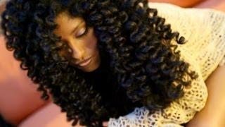 natural hair no heat curls waves flexi rod set tutorial