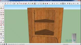 Make A Corner Cupboard W/sketchup