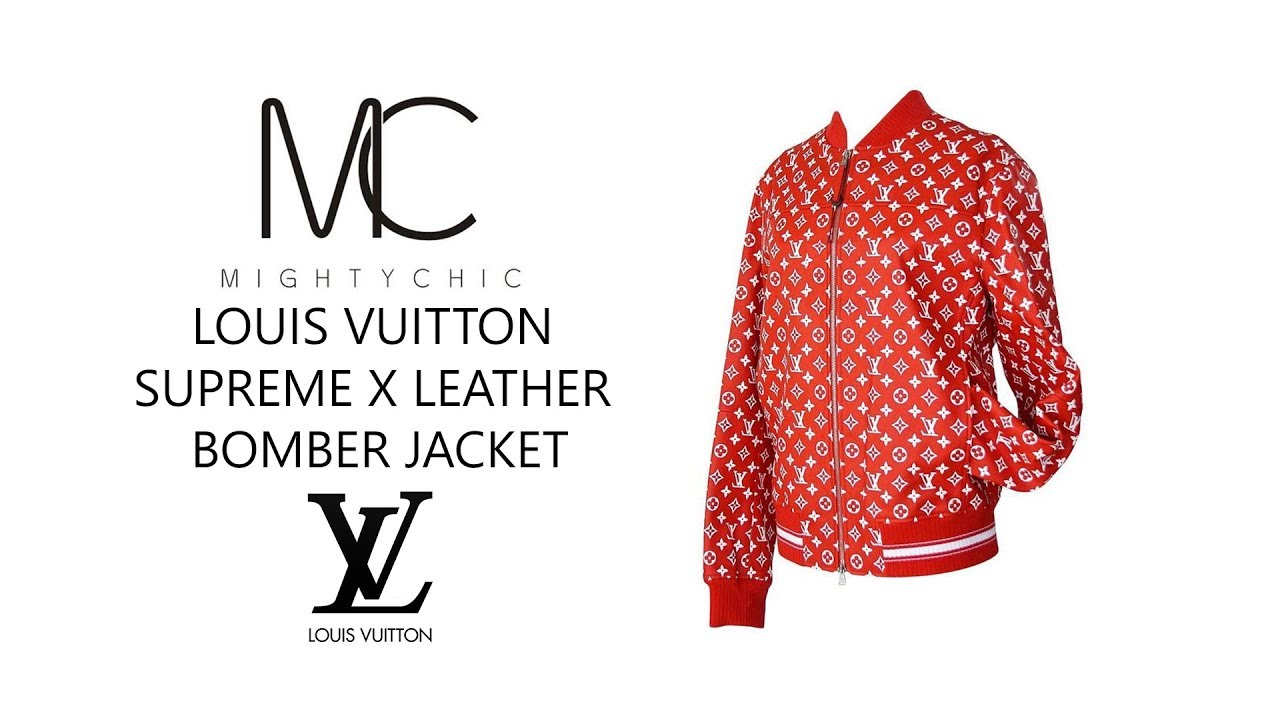Louis Vuitton Supreme X Leather Er Jacket Mightychic