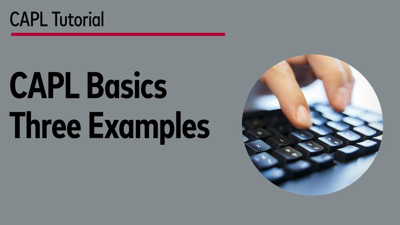 CAPL Basics -- Three Examples