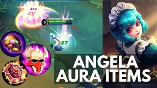 ANGELA SKILL3 with DOMINANCE ICE, CURSED HELM, C. BULWARK | WTFacts | Mobile Legends