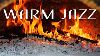 Warm JAZZ - Relaxing Fireplace & Smooth JAZZ Music For Calm - Chill Out Music