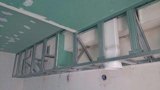 как сделать короб из гипсокартона не нагружая потолок. Примеры
