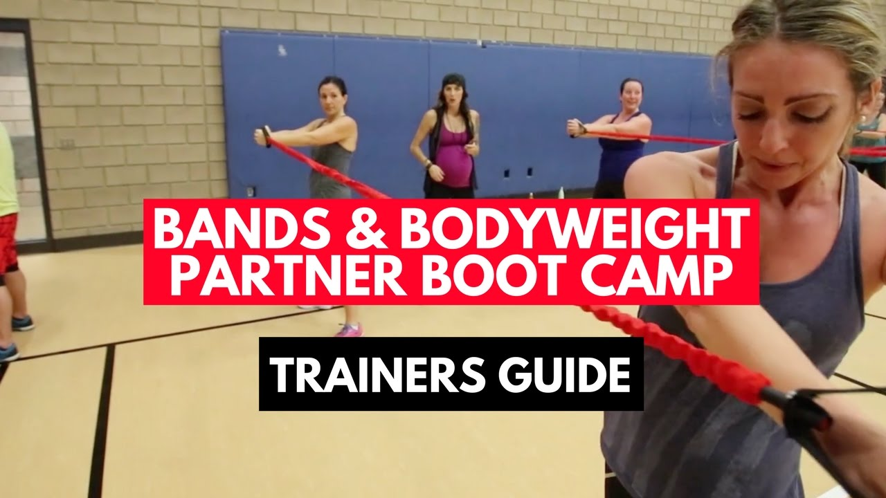 hight resolution of advanced resistance bands bodyweight partner boot camp routine trainers guide