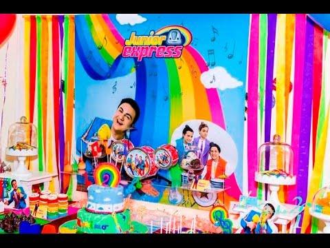Fiesta de junior express ni os party decoracion mesa de - Adornos para bebes ...