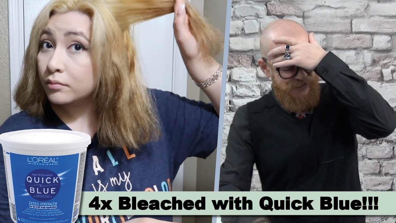 She BLEACHED it 4x with QUICK BLUE - Hair Buddha reacts
