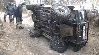 Уложили Сурфа на бок... (Toyota Surf overturned).