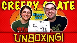 UNBOXING! Creepy Crate February 2018 - Horror Subscription Box