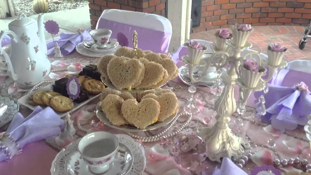 Elegant tea table setup for Girls - YouTube