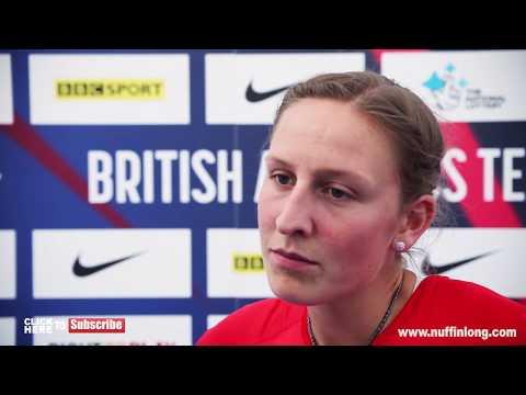 HOLLY BRADSHAW TALKS TO JENNY MEADOWS - British Athletics Championships 2017
