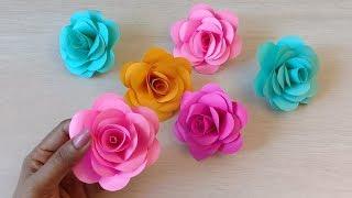 How to make Realistic, Easy paper Roses | Paper flower DIY| Rose flower making..