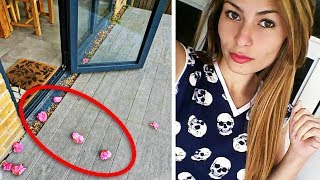 Woman Finds Pink Flowers On Her Porch, Until One Day She Realizes Why
